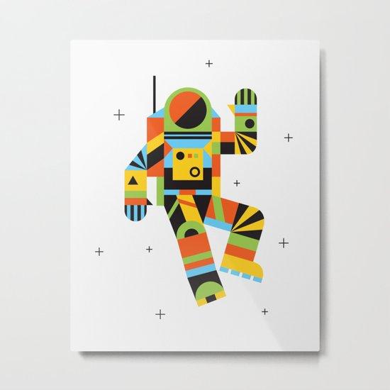 Hello Spaceman Metal Print