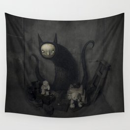 Cat monster Wall Tapestry