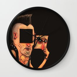 Punk FaceOff Wall Clock