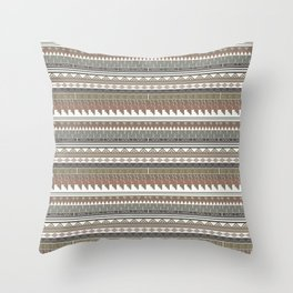 Tribal clay Throw Pillow