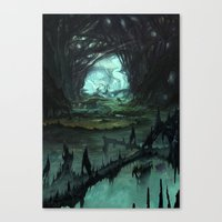 starcraft Canvas Prints featuring From Hell to Heaven through the tree of knowledge by Rafael Falconi