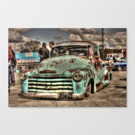 Rusty Chevrolet HDR Canvas Print