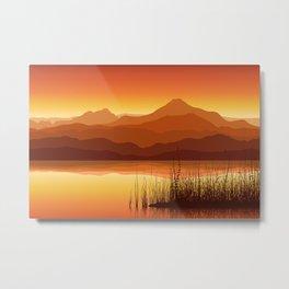 Sunset near Lake Metal Print