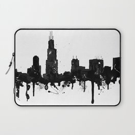 Watercolor Chicago Skyline Laptop Sleeve