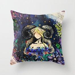 Faceless Aries Throw Pillow