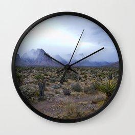 fog in the desert Wall Clock