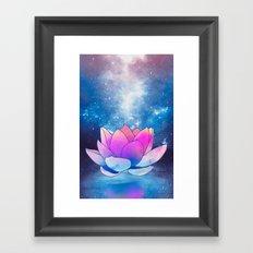 magic lotus flower Framed Art Print