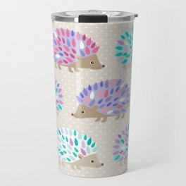 Hedgehog polkadot Travel Mug