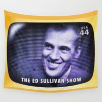 ed sheeran Wall Tapestries featuring The Ed Sullivan Show by lanjee