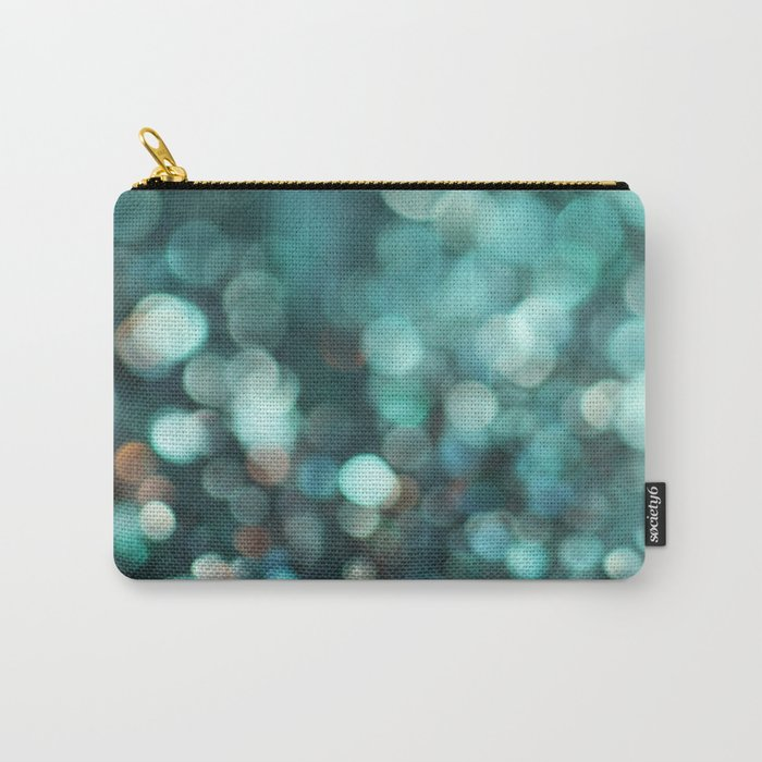 MERMAID GLITTER EMERALD Carry-All Pouch