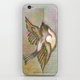 Flying Little Bird iPhone Skin