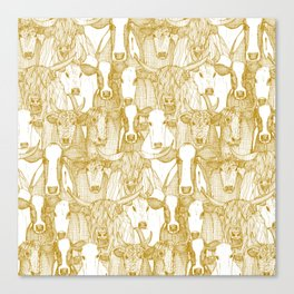 just cattle gold white Canvas Print