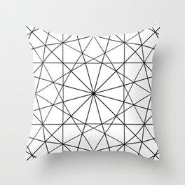 Dodecagon B&W Throw Pillow
