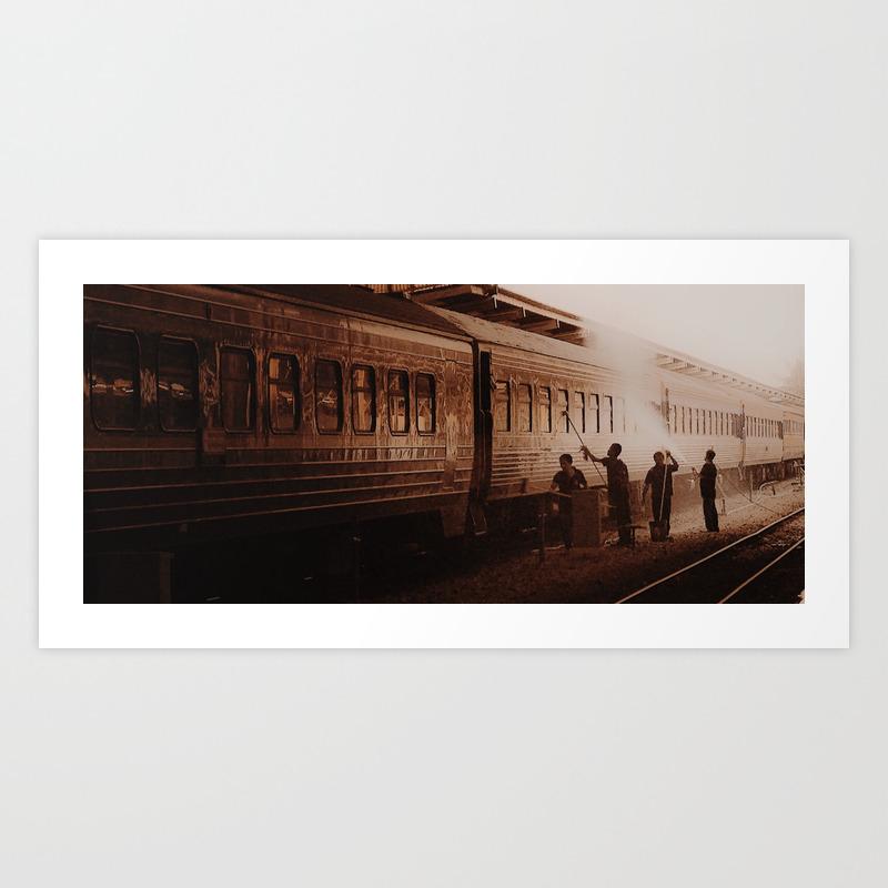 Train Station Art Print By Anumeha Society6