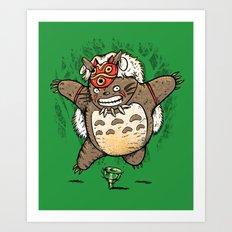 Totoroke Art Print