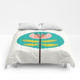 Retro Midcentury Flower Comforters