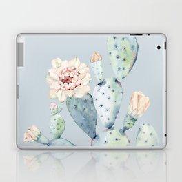 Prettiest Rose Cactus Blue Laptop & iPad Skin