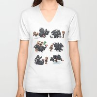 hiccup V-neck T-shirts featuring How Not to Train Your Dragon by Dooomcat