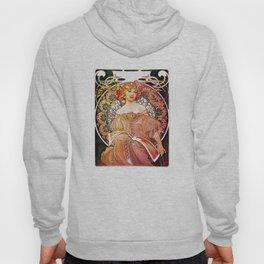 Alphonse Mucha Daydream Floral Vintage Art Nouveau Hoody