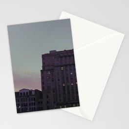 sunset, market street Stationery Cards