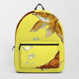 PRIZE WINNING BLACK-GOLDFISH YELLOW ART Backpack