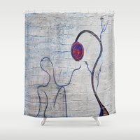 soul Shower Curtains featuring soul by Loosso