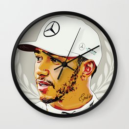 Lewis Hamilton - Greatest of All Time Wall Clock