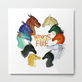 Love Wings of Fire Metal Print