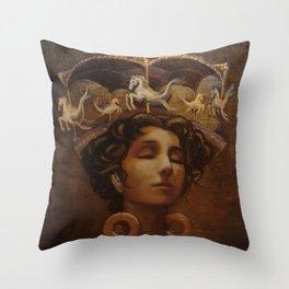Brass Ring Dream Throw Pillow