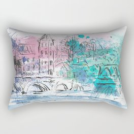 Spring in Dinant Rectangular Pillow