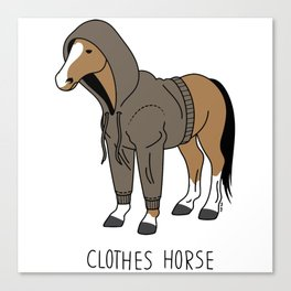 clothes of the horse Canvas Print