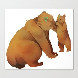 Kodiak Bears Canvas Print