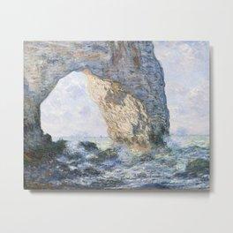 The Manneporte Étretat by Claude Monet, 1883 Metal Print