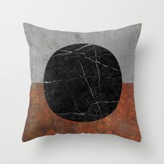 Abstract - Marble, Concrete, Rusted Iron Throw Pillow