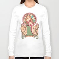 nouveau Long Sleeve T-shirts featuring Peach Nouveau by Megan Lara