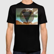 You Are Here Mens Fitted Tee MEDIUM Black