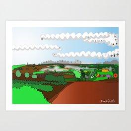 Balingup, Western Australia - Aussie Art Art Print