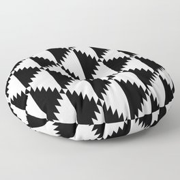 Aztec 3 B&W Floor Pillow