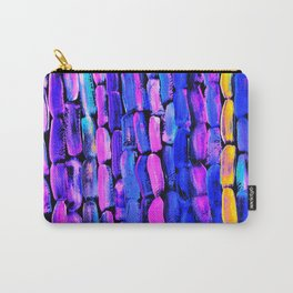 Yellow Sugarcane on Pink and Blue Carry-All Pouch