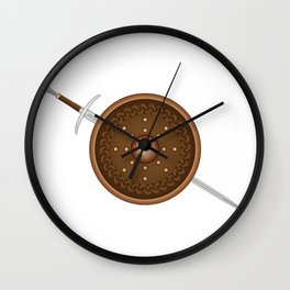 Claymore and Shield Wall Clock