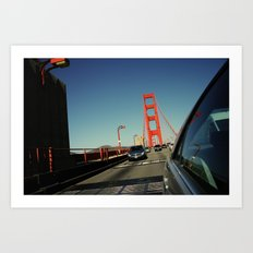 Golden Gate Bridge; Mid-Crossing. Art Print