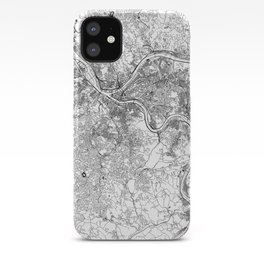 Pittsburgh White Map iPhone Case