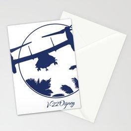 V-22 Osprey Over Palm Trees Stationery Cards