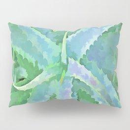 Pop Art Grey Green Aloe Pillow Sham