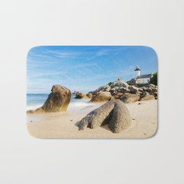 Lighthouse on Brittany Beach Bath Mat