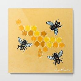"""""""Honeybees"""" Metal Print"""