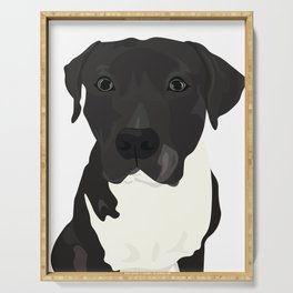 Atticus the Pit Bull Serving Tray