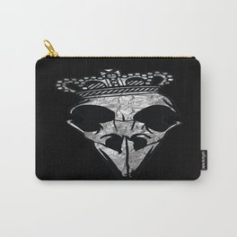 Black and Silver Crown Carry-All Pouch