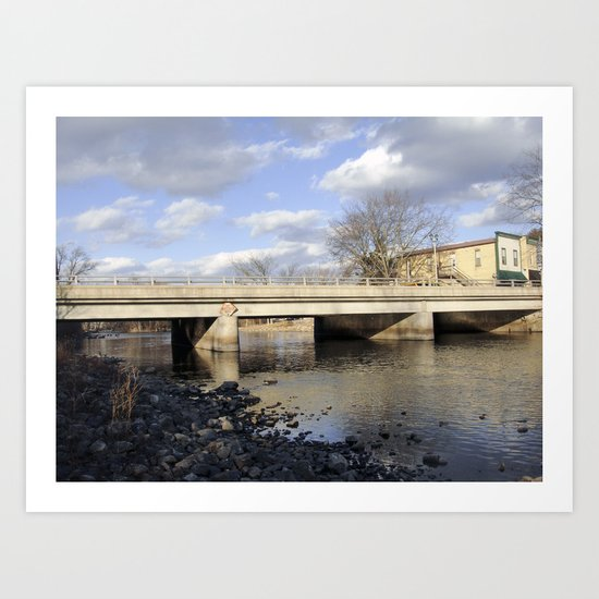 By the river 5 Art Print