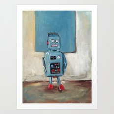 Color Match Bot Art Print